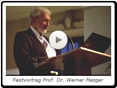 Festvortrag Prof. Dr. Werner Metzger